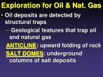 exploration for oil nat gas