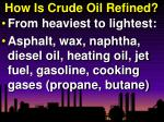 how is crude oil refined