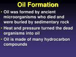 oil formation