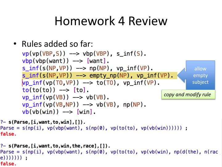 Homework 4 Review