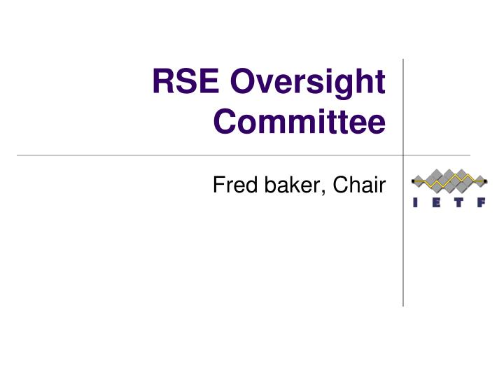 rse oversight committee n.