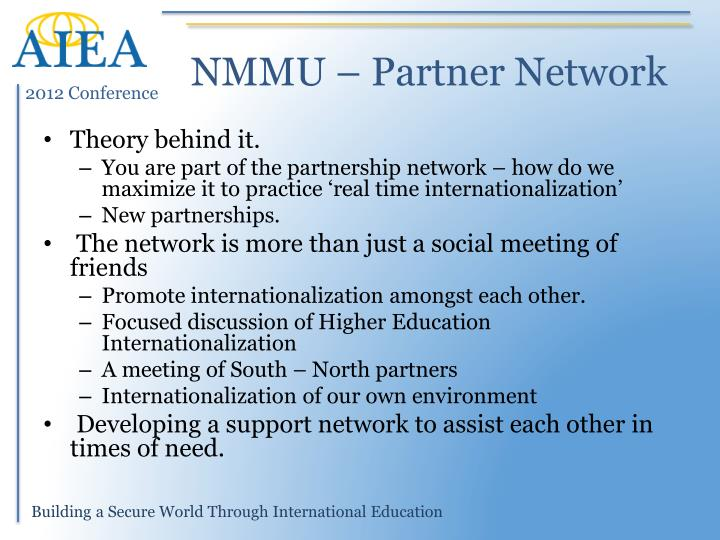 NMMU – Partner Network
