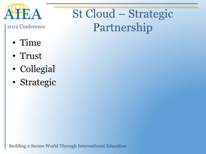 St Cloud – Strategic Partnership