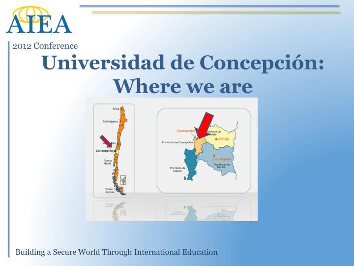 Universidad de concepci n where we are