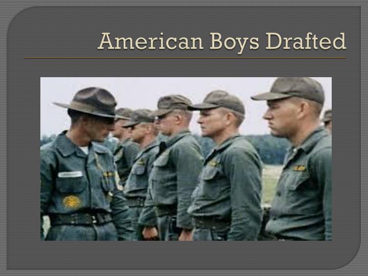 American Boys Drafted