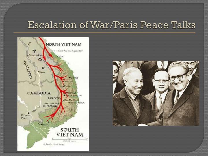 Escalation of War/Paris Peace Talks
