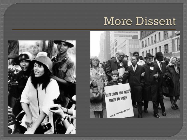 More Dissent