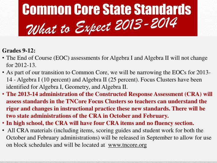 Common core state standards1