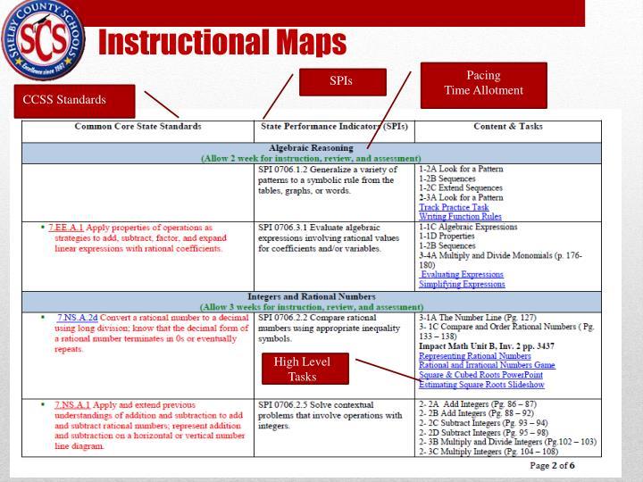 Instructional Maps