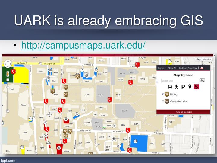 Uark is already embracing gis