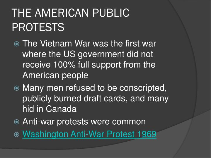 THE AMERICAN PUBLIC PROTESTS