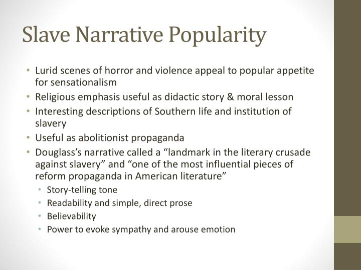 Slave Narrative Popularity