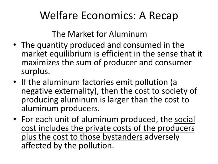 Welfare Economics: A Recap