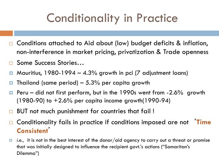 Conditionality in