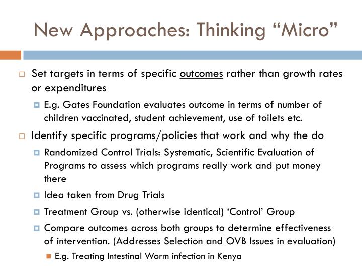 """New Approaches: Thinking """"Micro"""""""