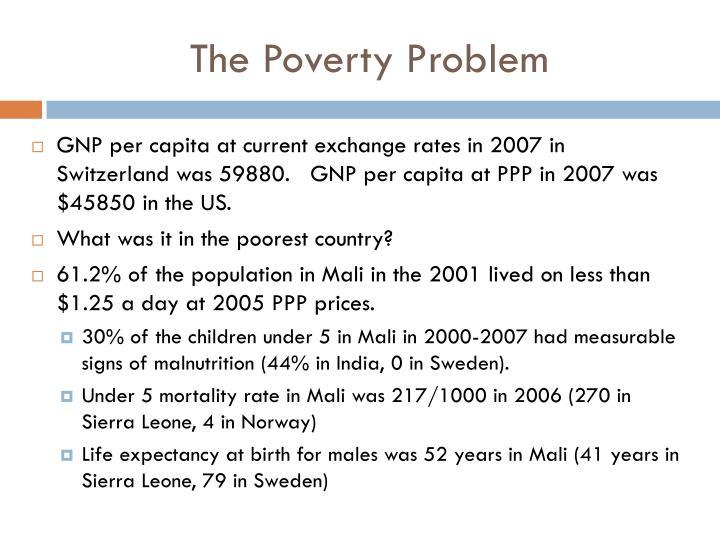 The Poverty Problem