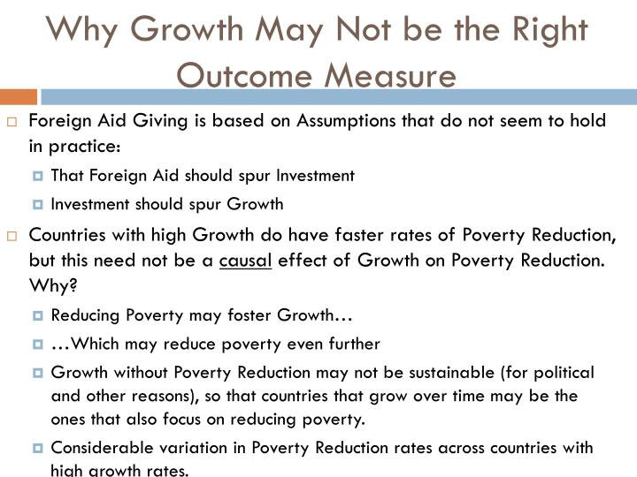 Why Growth May Not be the Right Outcome Measure