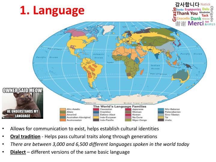 1 language