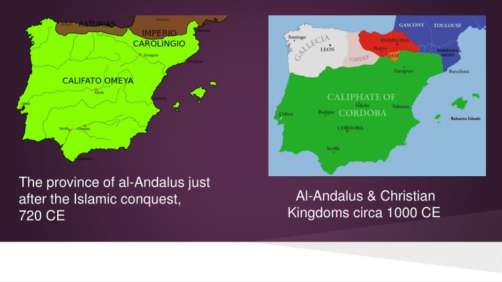 The province of al-Andalus just after the Islamic conquest,