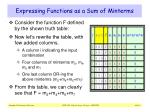 expressing functions as a sum of minterms
