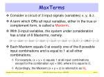 maxterms