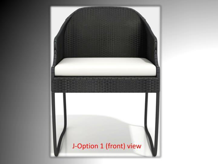 J option 1 front view
