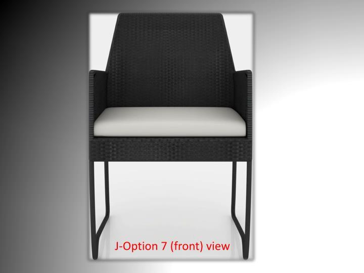 J-Option 7 (front) view
