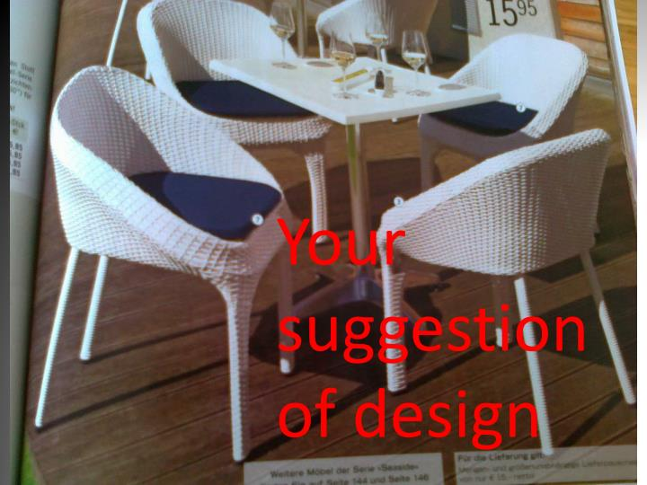 Your suggestion of design