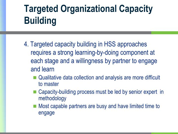 Targeted Organizational Capacity Building