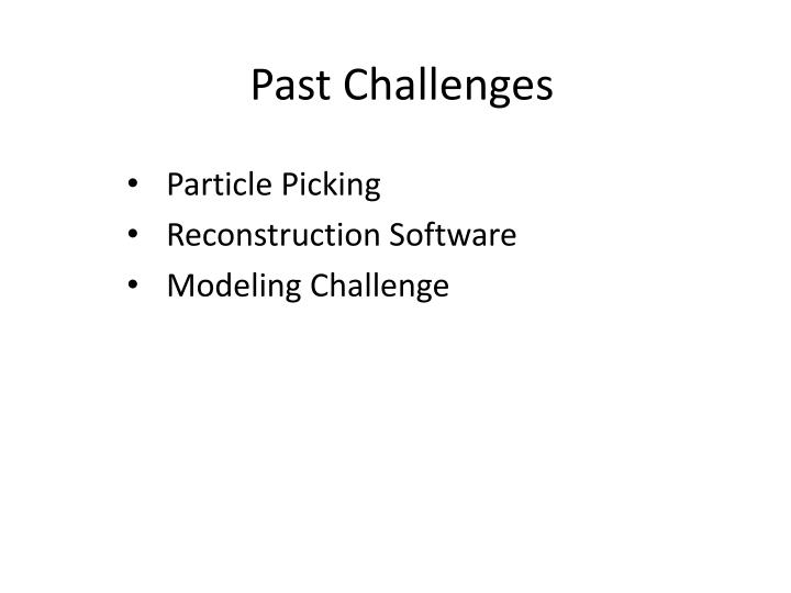 Past challenges