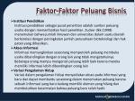 faktor faktor peluang bisnis1