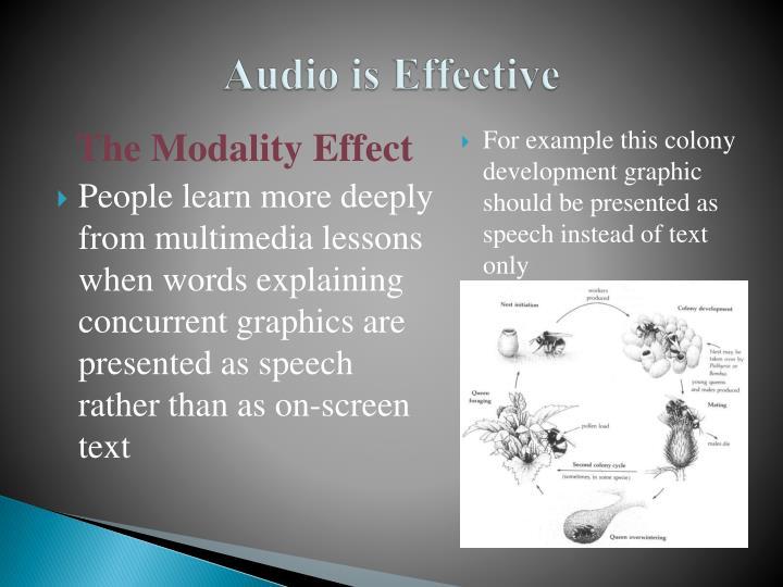 Audio is Effective