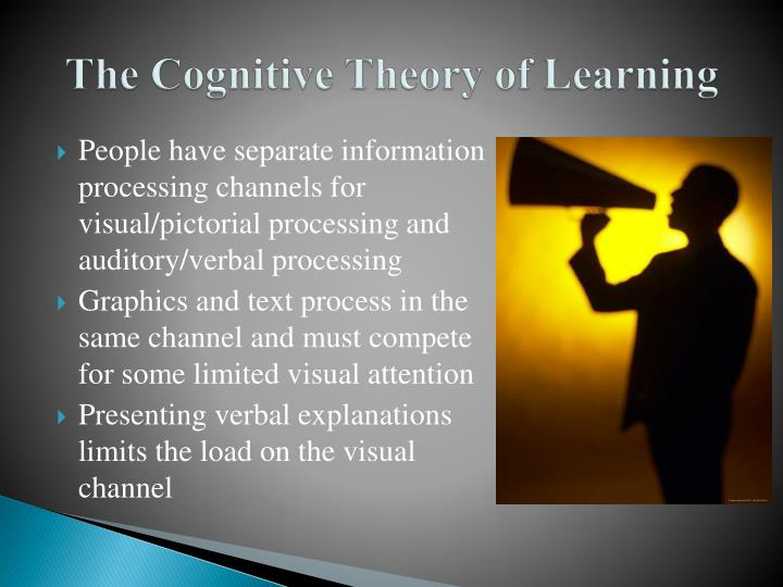The cognitive theory of learning
