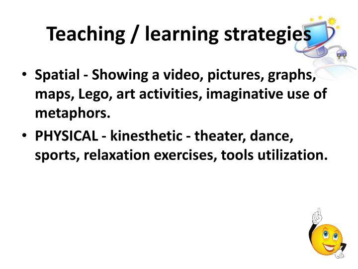 Teaching / learning strategies