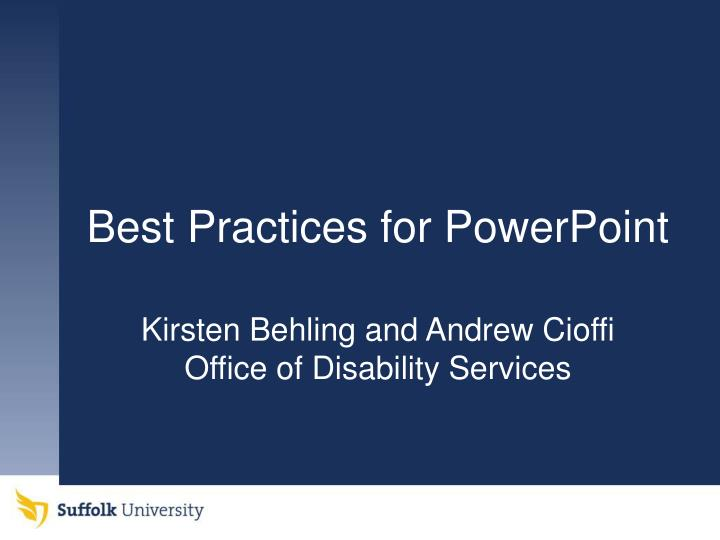 best practices for powerpoint n.