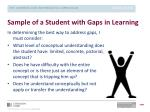sample of a student with gaps in learning1