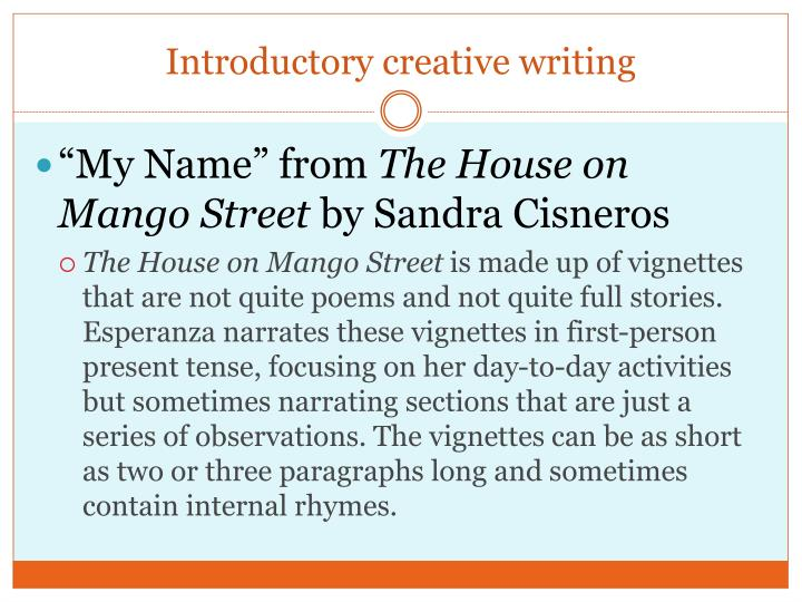 Introductory creative writing