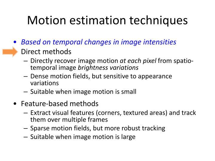 Motion estimation techniques