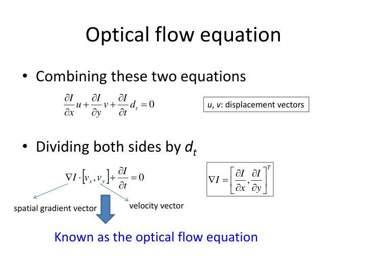 Optical flow equation