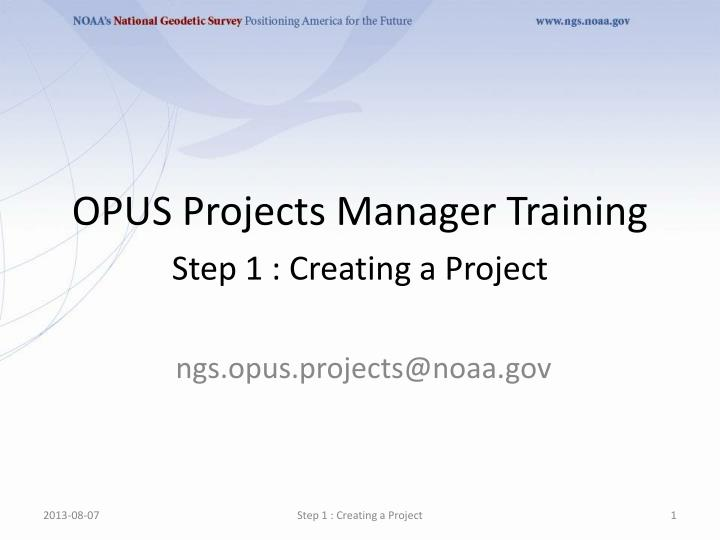 opus projects manager training