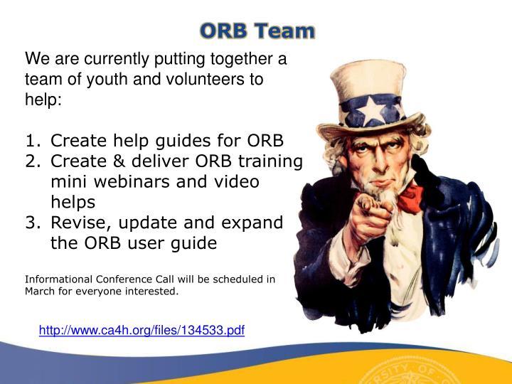 ORB Team