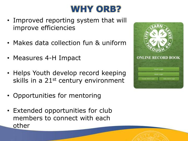 WHY ORB?