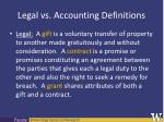legal vs accounting definitions