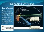 kepler s 2 nd law