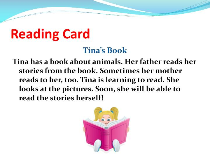 Reading Card