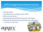 appx design environment futures3