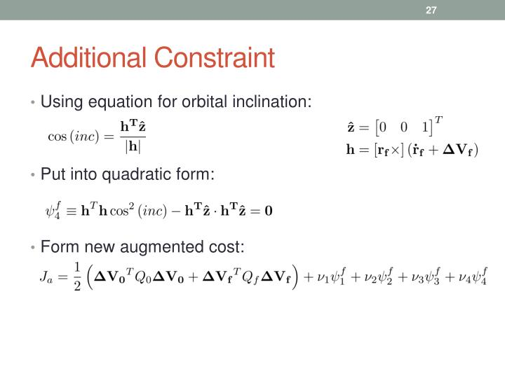 Additional Constraint