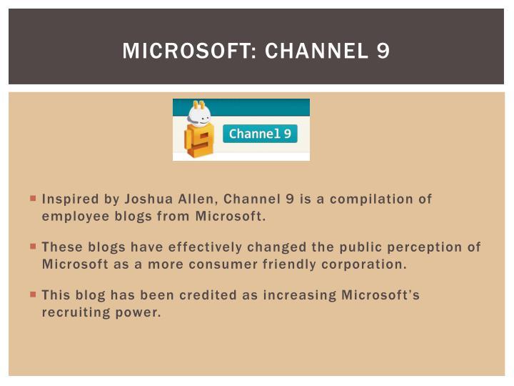 Microsoft: Channel 9