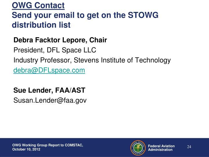 OWG Contact