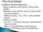 the final defeat
